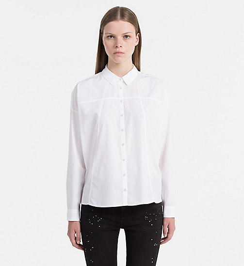 Cotton Poplin Shirt - BRIGHT WHITE - CALVIN KLEIN JEANS SHIRTS - main image