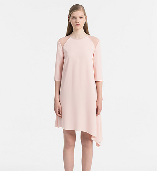 CALVIN KLEIN JEANS Satin Asymmetric Dress - PEACHY KEEN - CALVIN KLEIN JEANS CLOTHES - main image
