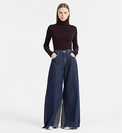 CALVIN KLEIN JEANS Cotton Silk Roll Neck Sweater - FIG - CALVIN KLEIN JEANS JUMPERS - detail image 1