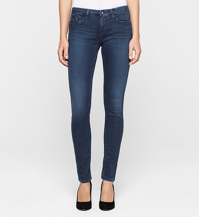 CKJEANS Mid-Rise Skinny-Jeans - SATIN DARK STRETCH - CK JEANS JEANS - main image