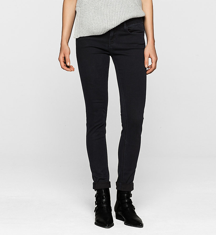 CKJEANS Mid Rise Skinny Jeans - SATIN RINSE STRETCH - CK JEANS JEANS - main image