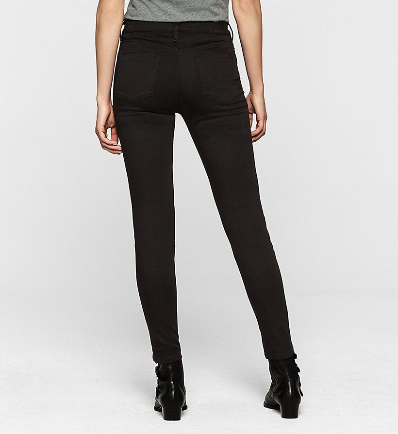 CKJEANS High Rise Skinny Ankle Jeans - POP BLACK STRETCH - CK JEANS JEANS - detail image 1
