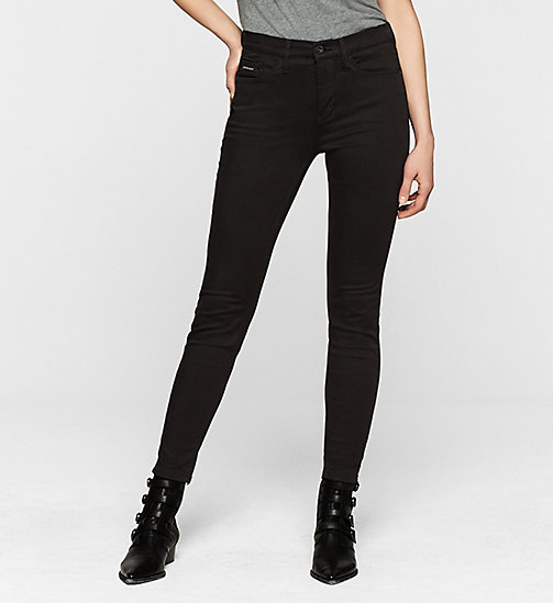 CKJEANS High Rise Skinny Ankle Jeans - POP BLACK STRETCH - CK JEANS JEANS - main image