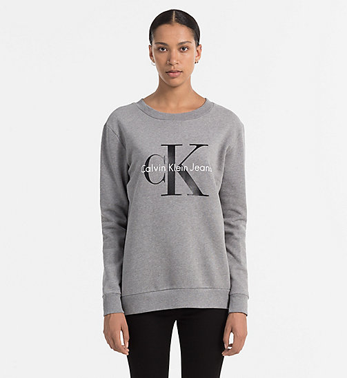 CALVIN KLEIN JEANS Logo Sweatshirt - LIGHT GREY HEATHER - CALVIN KLEIN JEANS SWEATSHIRTS - main image