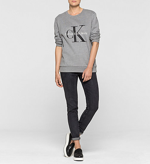 CKCOLLECTION Felpa con logo - LIGHT GREY HEATHER - CK JEANS  - dettaglio immagine 1