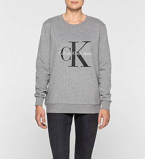 CKCOLLECTION Felpa con logo - LIGHT GREY HEATHER - CK JEANS  - immagine principale