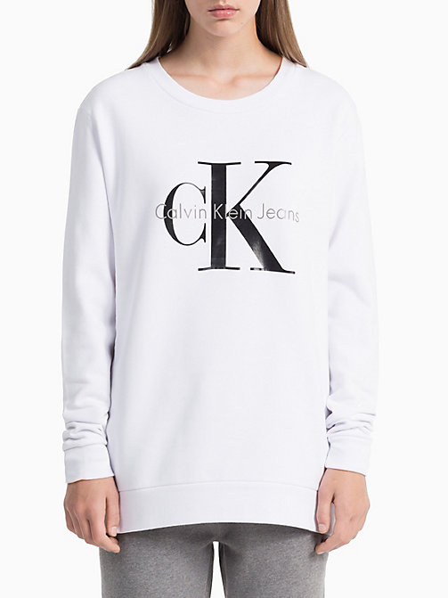 CKCOLLECTION Logo-Sweatshirt - BRIGHT WHITE-PT - CK JEANS  - main image