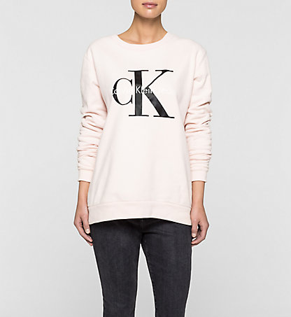 damen sweatshirts calvin klein store. Black Bedroom Furniture Sets. Home Design Ideas