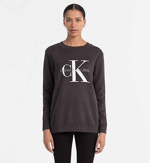 CKCOLLECTION Logo-Sweatshirt - METEORITE - CK JEANS  - main image