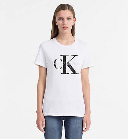 logo t shirt women calvin klein uk. Black Bedroom Furniture Sets. Home Design Ideas
