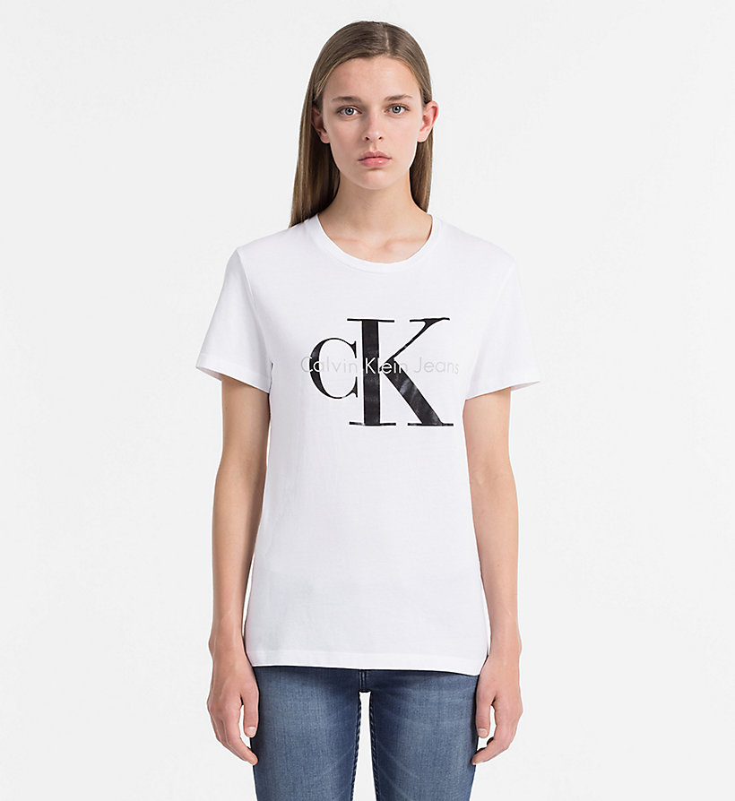 CKJEANS Slim Logo-T-Shirt - BRIGHT WHITE - CK JEANS T-SHIRTS - main image