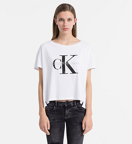 CKCOLLECTION Logo T-shirt - BRIGHT WHITE - CK JEANS  - main image