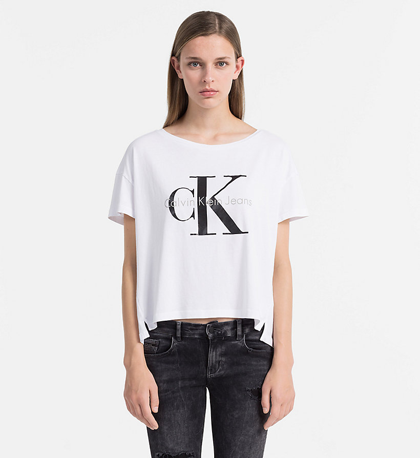 CKJEANS Logo T-shirt - BRIGHT WHITE - CK JEANS CLOTHES - main image