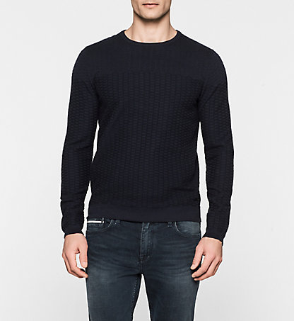 CALVIN KLEIN JEANS Textured Knit Sweater - Cathal J30J300155402