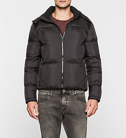 CALVIN KLEIN JEANS Hooded Down Jacket - Opron J30J300665099