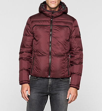 CALVIN KLEIN JEANS Hooded Down Jacket - Opron J30J300665297