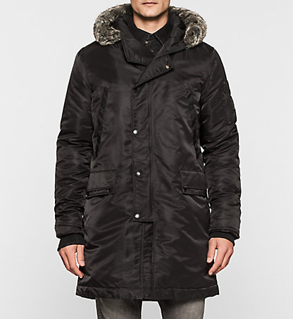 CALVIN KLEIN JEANS Hooded Down Coat - Obstructor J30J300733099