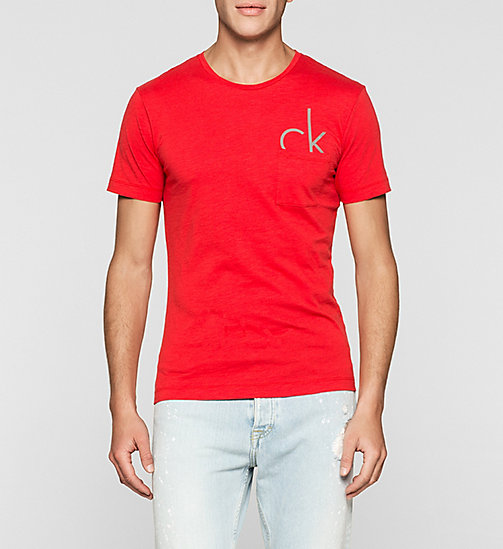 Camiseta regular con logo - TRUE RED - CK JEANS  - imagen principal