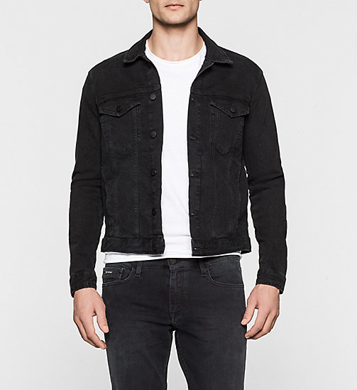 CALVINKLEIN Denim Jacket - RICH BLACK - CK JEANS OUTERWEAR - main image