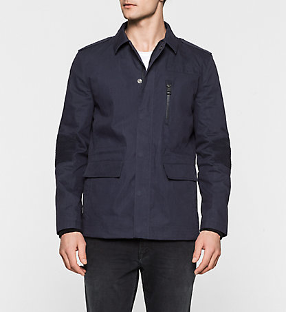 CALVIN KLEIN JEANS Coated Cotton Jacket - Orbit J30J300935402