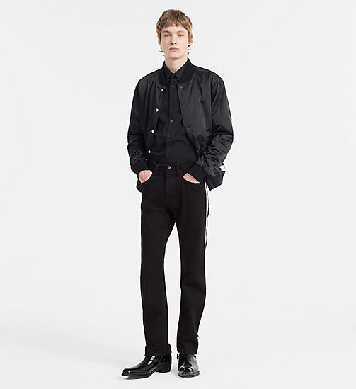 CALVIN KLEIN JEANS Slim Cotton-Stretch Shirt - CK BLACK - CALVIN KLEIN JEANS CLOTHES - detail image 1