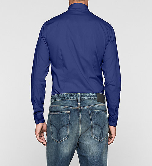 Slim Cotton-Stretch Shirt - BLUE DEPTHS - CALVIN KLEIN JEANS  - detail image 1