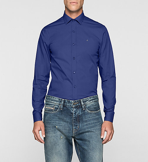 Slim Cotton-Stretch Shirt - BLUE DEPTHS - CALVIN KLEIN JEANS  - main image