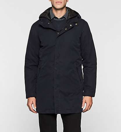 CALVIN KLEIN JEANS Coated Cotton Parka - Orato J30J300992402