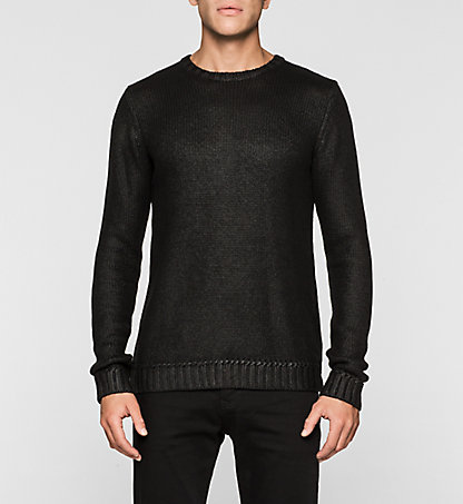 CALVIN KLEIN JEANS Coated Cotton Sweater - Sorello J30J301014099