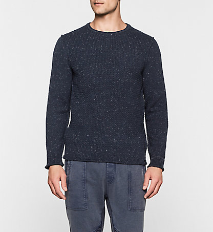 CALVIN KLEIN JEANS Wool Cotton Sweater - Savey J30J301029496