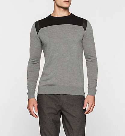 CALVIN KLEIN JEANS Wool Blend Sweater - Secret J30J301073025