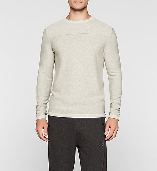 CALVINKLEIN Wool Blend Sweater - MID GREY HEATHER - CK JEANS JUMPERS - main image