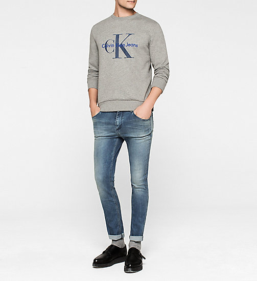 CALVIN KLEIN JEANS Logo Sweatshirt - LIGHT GREY HEATHER - CALVIN KLEIN JEANS  - detail image 1
