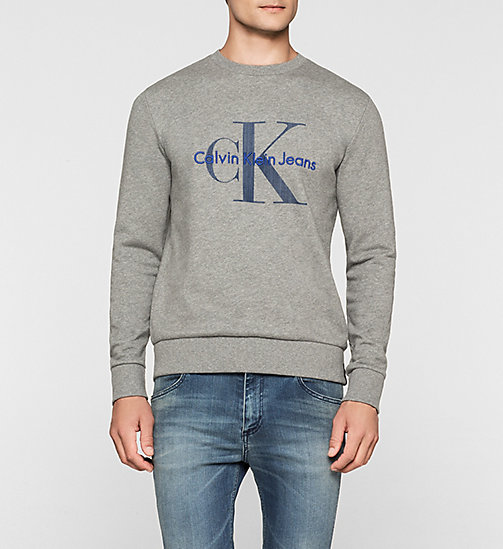 CALVIN KLEIN JEANS Logo Sweatshirt - LIGHT GREY HEATHER - CALVIN KLEIN JEANS  - main image