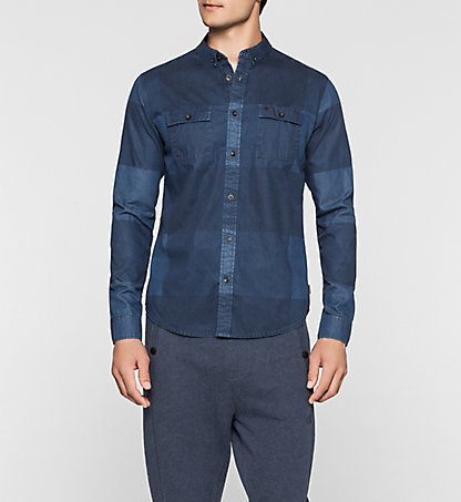 CALVIN KLEIN JEANS Check Denim Shirt - Windo J30J301250863