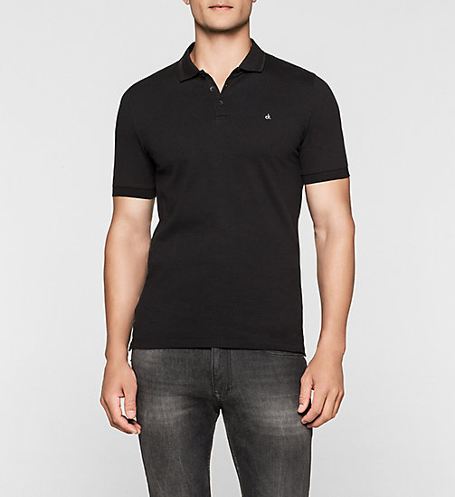 CKJEANS Cotton Pique Polo - CK BLACK - CK JEANS POLO SHIRTS - main image