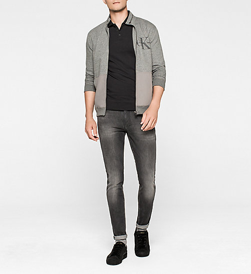 Zip Cardigan - CHARCOAL GRAY - CK JEANS  - detail image 1