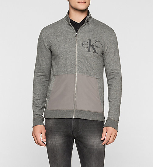 Zip Cardigan - CHARCOAL GRAY - CK JEANS UNDERWEAR - main image