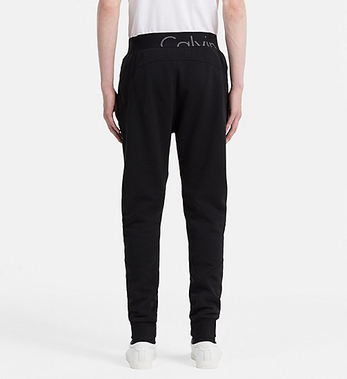 CALVIN KLEIN JEANS Cotton Fleece Sweatpants - CK BLACK - CALVIN KLEIN JEANS 24/7 STAPLES - detail image 1