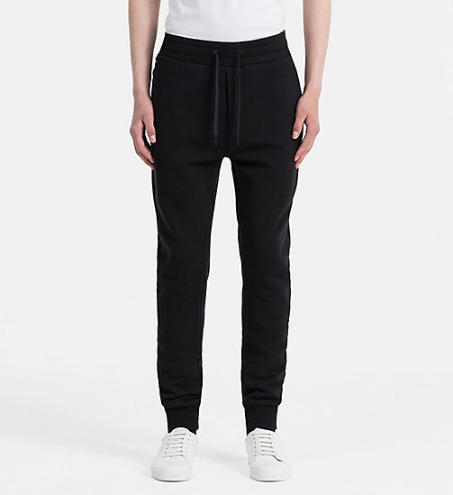CALVIN KLEIN JEANS Cotton Fleece Sweatpants - CK BLACK - CALVIN KLEIN JEANS 24/7 STAPLES - main image