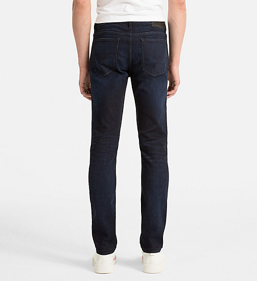 CALVIN KLEIN JEANS Slim Straight Jeans - TRUE WORN BLUE - CK JEANS CLOTHES - detail image 1