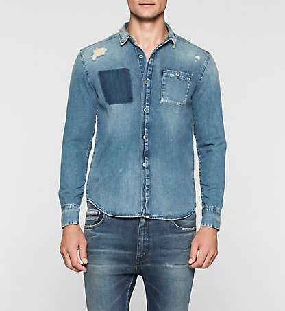 CALVIN KLEIN JEANS Denim Shirt - West J30J304305913