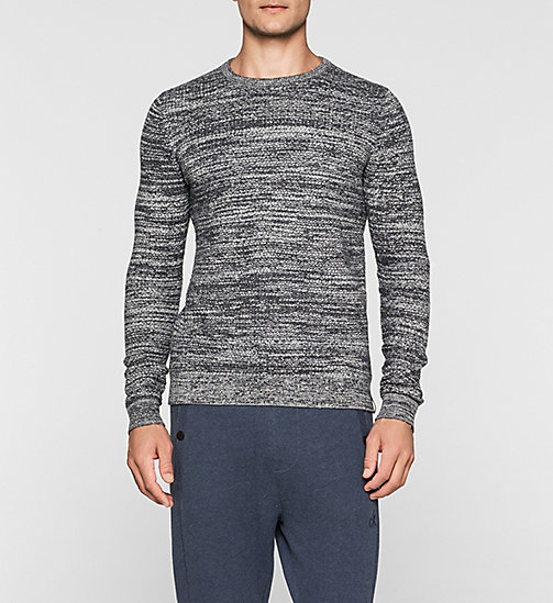 CALVINKLEIN Melange Knit Sweater - CK BLACK - CK JEANS JUMPERS - main image