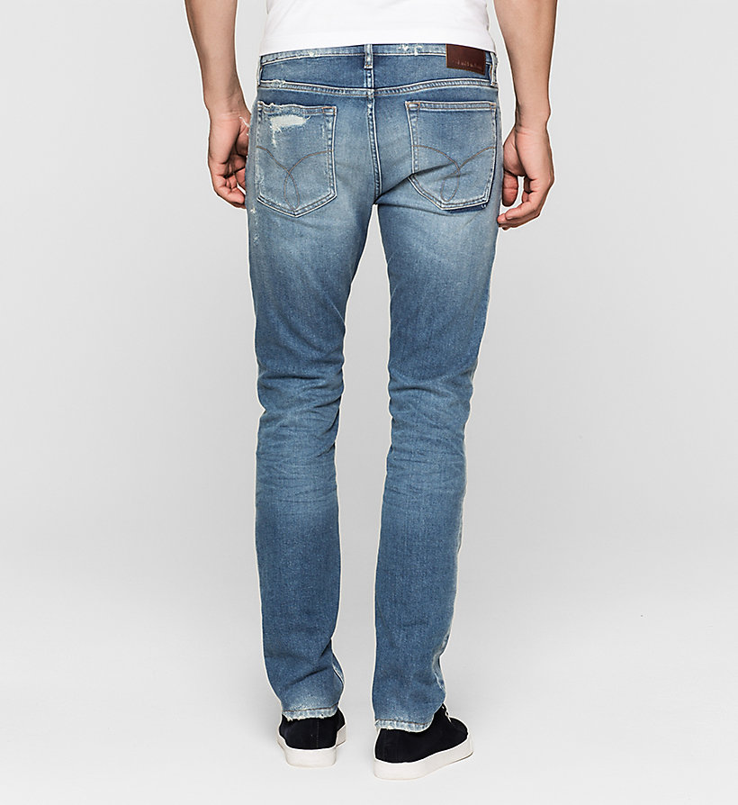 CKJEANS Slim Straight Jeans - TOKYO BLUE - CK JEANS JEANS - detail image 1
