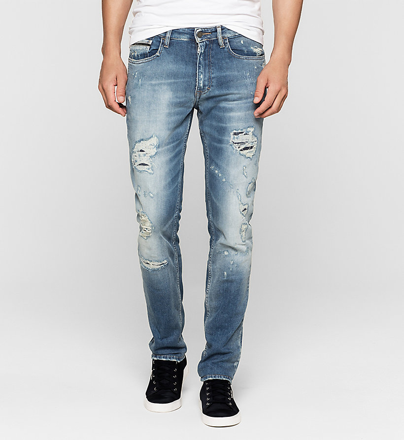 CKJEANS Slim Straight Jeans - TOKYO BLUE - CK JEANS JEANS - main image