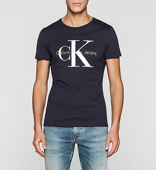 Regular Logo T-shirt - NIGHT SKY - CK JEANS T-SHIRTS - main image