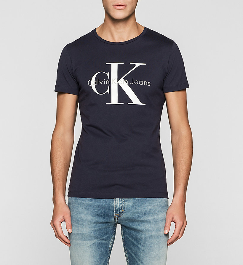 calvin klein t shirt herren regular logo t shirt night. Black Bedroom Furniture Sets. Home Design Ideas
