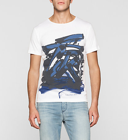 CALVIN KLEIN JEANS Regular Fit Graffiti T-shirt J30J304567901