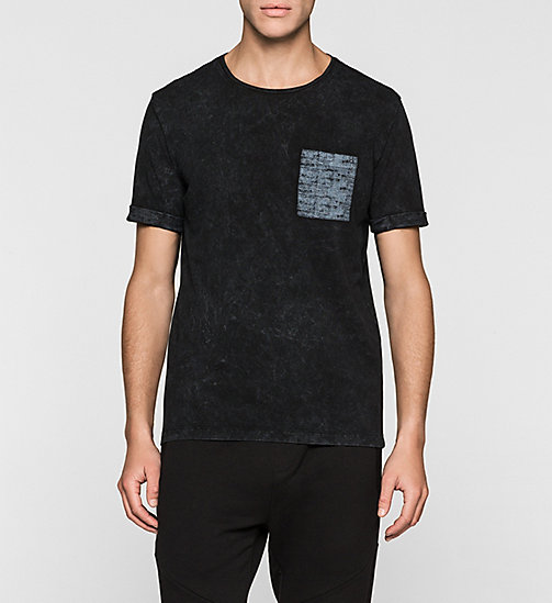 CKJEANS Regular Cotton Piqué T-shirt - CK BLACK - CK JEANS T-SHIRTS - main image