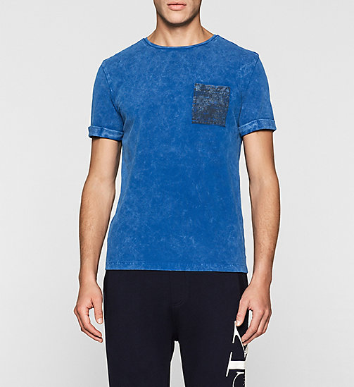 Regular Cotton Piqué T-shirt - MONACO BLUE - CK JEANS  - main image